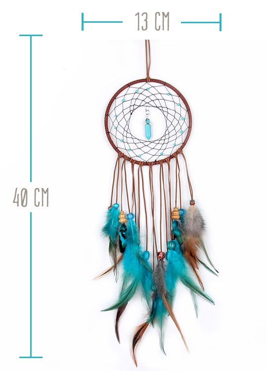 Dreamcatcher Pierre Marron - Taille