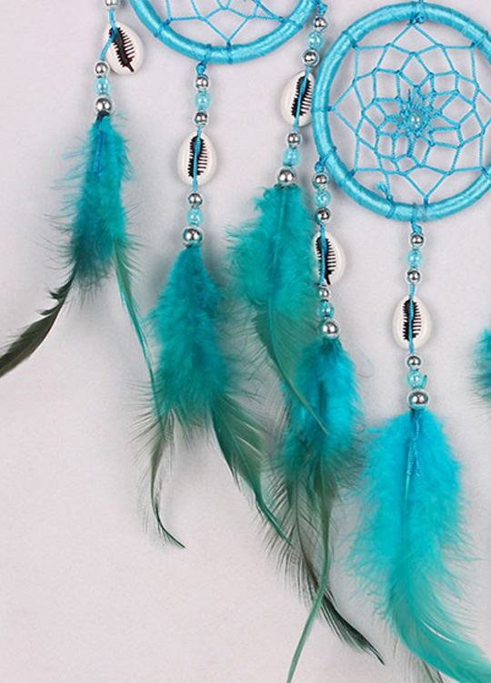 Attrape Rêve Indien Wapi Bleu - Détail 2
