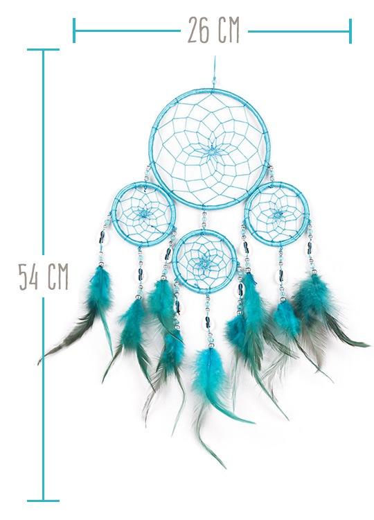 Attrapeur de Rêve Indien Wapi Bleu - Taille