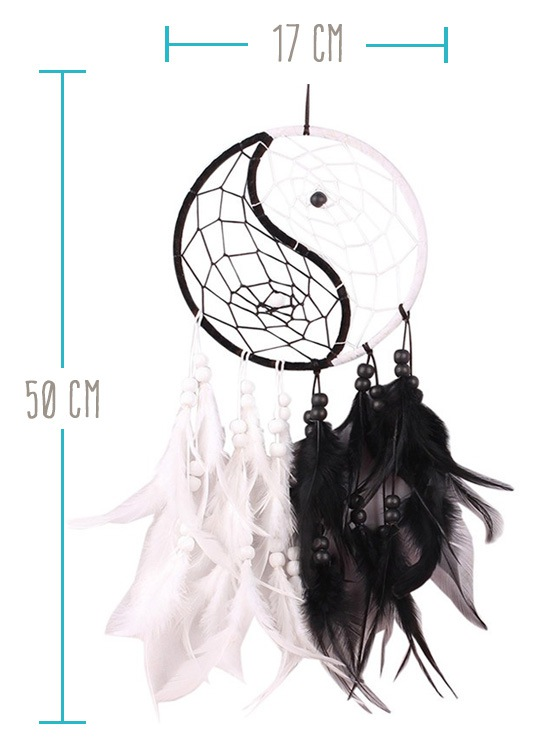 Dreamcatcher Indien Ying Yang - Taille