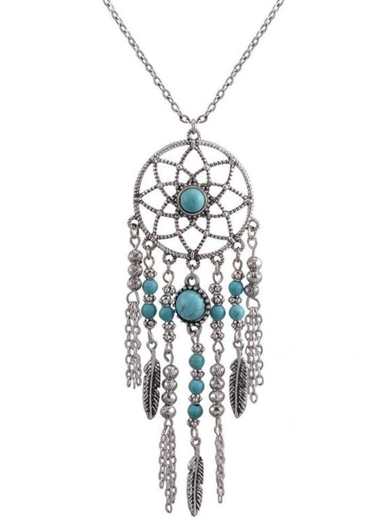 Collier Attrapes Reves Cheyenne Perles Bleues