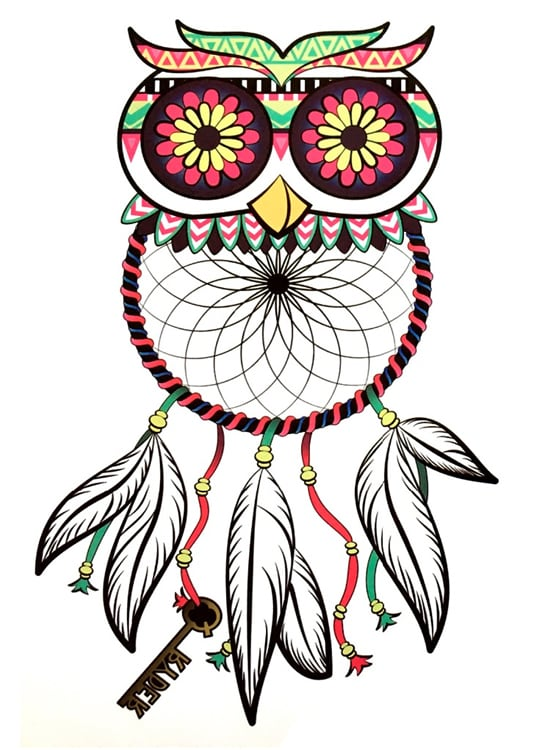 Tatouage Attrapes Reves Hibou Izusa